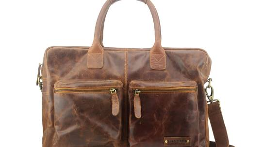 Manzoni Distressed Leather Overnight Bag