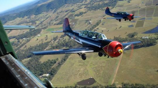 Aerobatic Warbird Formation and Dogfighting Flight
