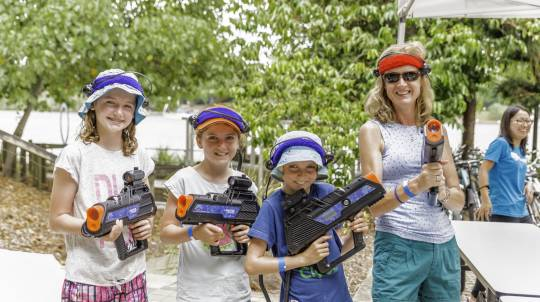 Laser Tag Experience with BBQ and Drinks