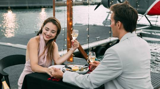 Sunset Dinner on the Dock and Private Seaplane Flight- For 2