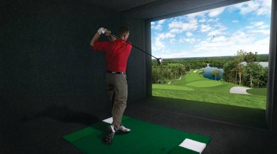 Indoor Golf Lesson with a PGA Pro and a Round of 18 Holes