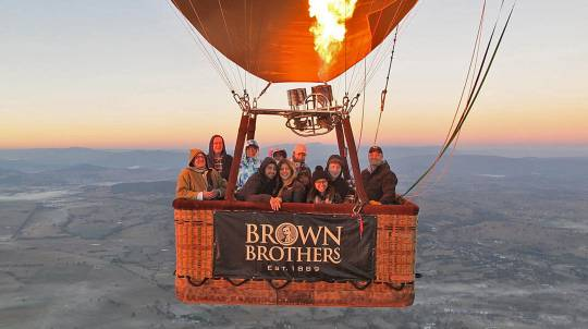 Sunrise Hot Air Balloon Flight over King Valley