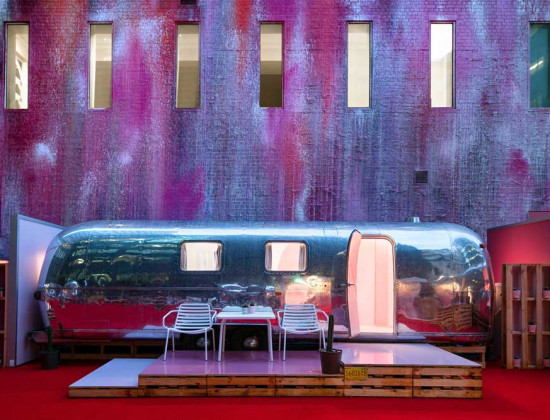 Melbourne's rooftop airstream accommodation