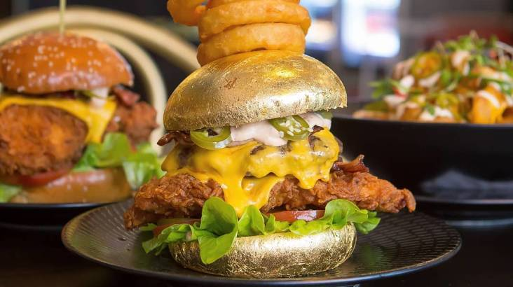 24K Gold Burger with Beer - For 2