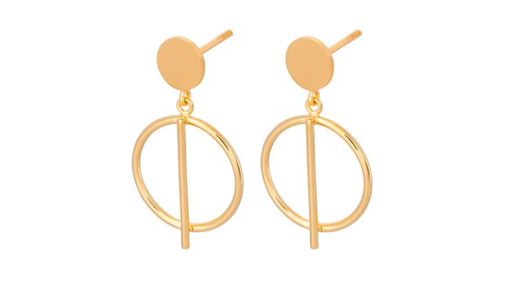 Horizon Drop Earrings - Sterling Silver or Gold Plated
