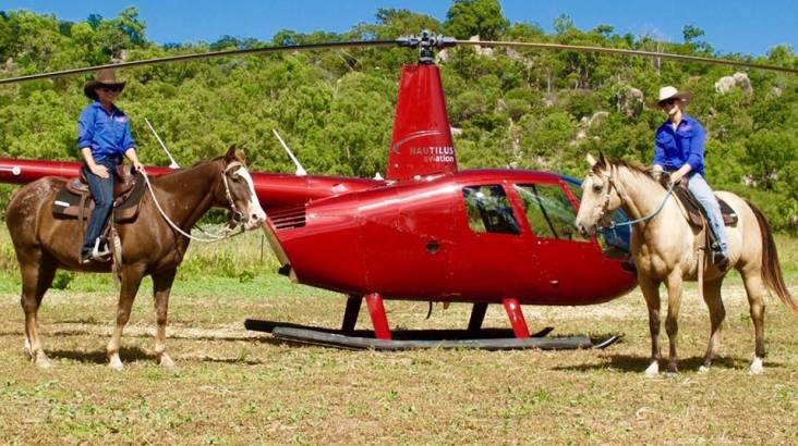 Magnetic Island Helicopter Flight and Horseback Riding