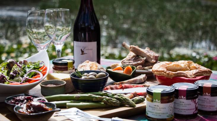Lakeside Farmer's Produce Lunch with Wine - For 2