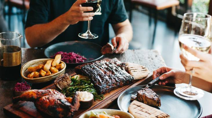RedBalloon Meat Dining Experience with Wine - For 2 - Ringwood