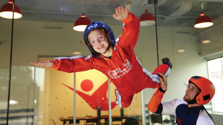 RedBalloon Indoor Skydiving Intro Midweek - 2 Flights - Penrith