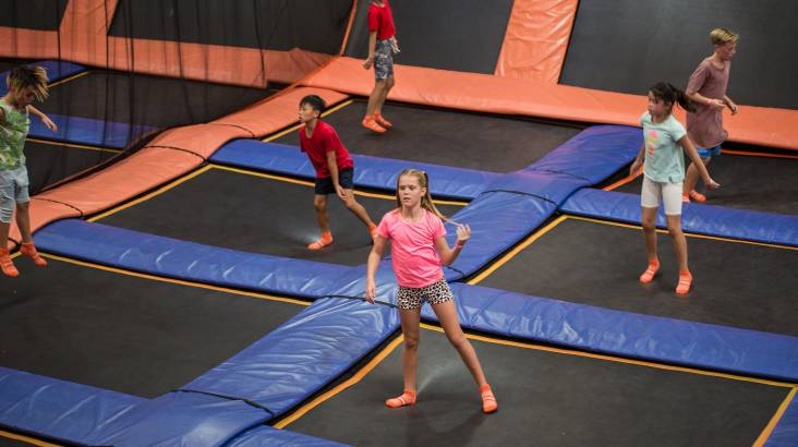 RedBalloon Indoor Trampoline Park Family Entry with Climbing- Macgregor