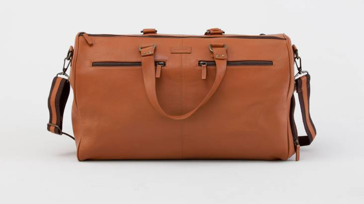 Men's Leather Overnight Bag with Washbag - Various Colours