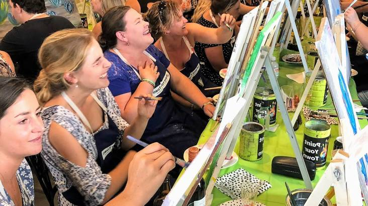Private Paint and Wine Class - NSW - For 10