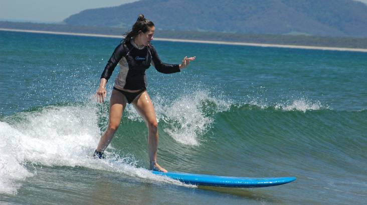 Private Surfing Lesson on the South Coast