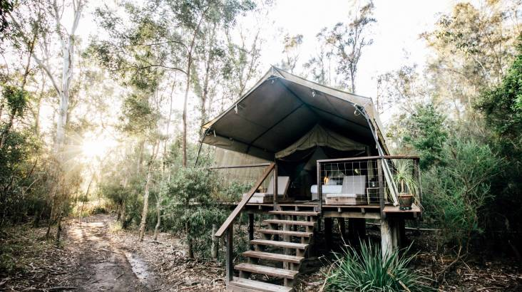 RedBalloon Overnight Deluxe Glamping with Breakfast and Dinner- Midweek