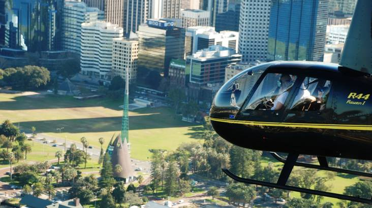 Scenic Private Helicopter Flight over Perth - For 2