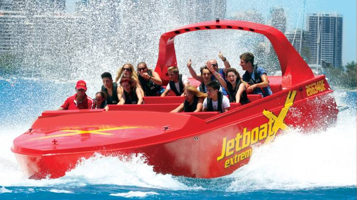 RedBalloon High Speed Jet Boat Ride with 360 Spins – 55 Minutes