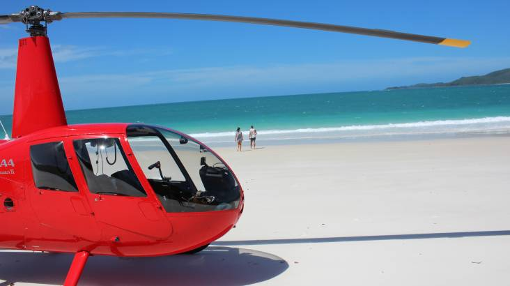 RedBalloon Whitsundays Helicopter Flight with Beach Visit For 2 - 2 Hrs