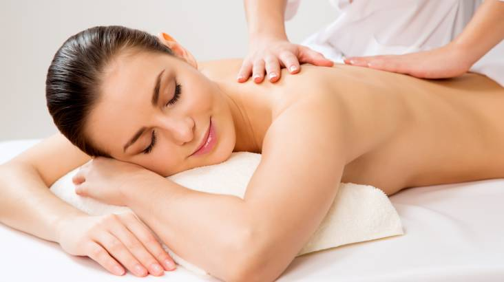Salt Scrub, Massage and Blowdry Package