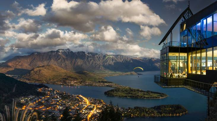 RedBalloon Scenic Gondola Ride over Queenstown with Buffet Dinner-For 2