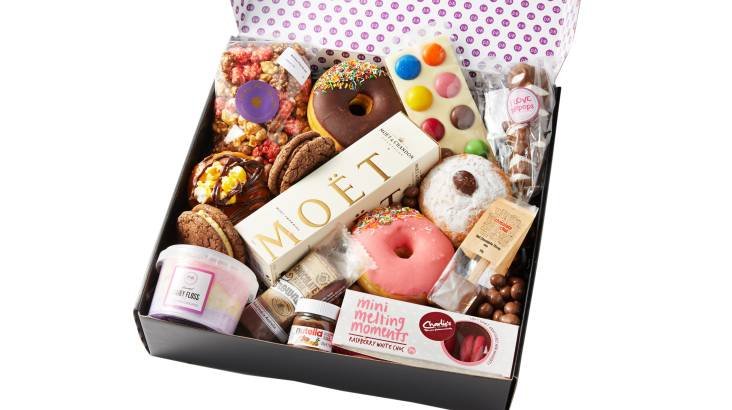 Donuts and Moët Champagne Gift Box