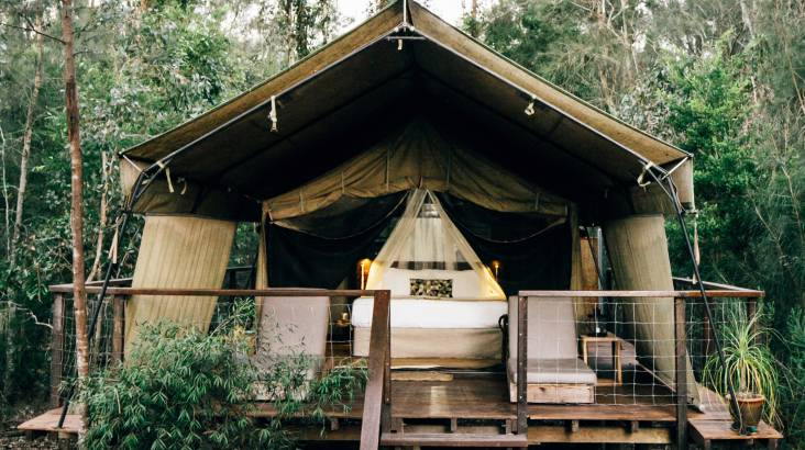 RedBalloon 2 Nights Deluxe Glamping with Breakfast and Dinner - Midweek