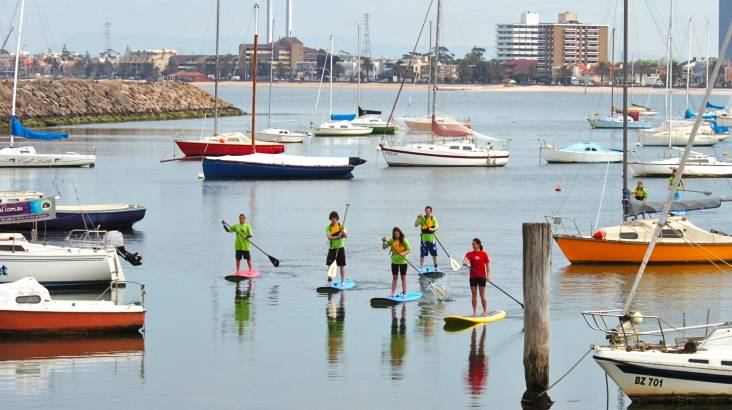 Learn to Stand Up Paddle Board at St Kilda Beach