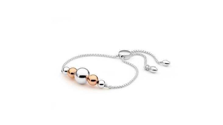 Sterling Silver Large Ball Sliding Bracelet