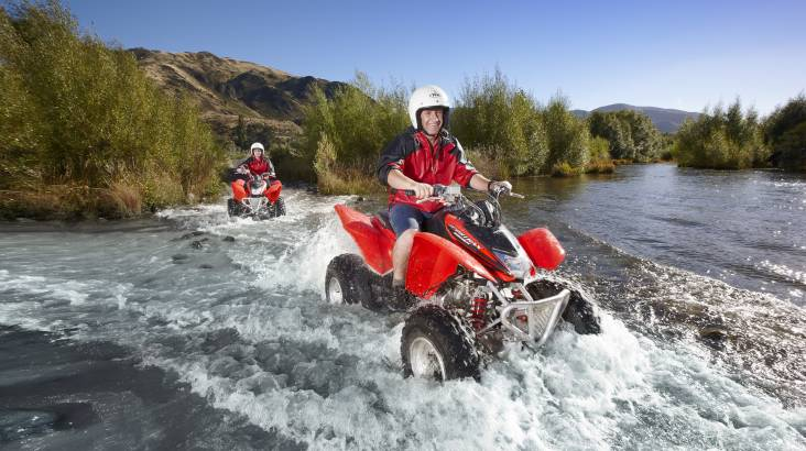 RedBalloon Hanmer Springs Single Seat Quad Bike Adventure - 2 Hours