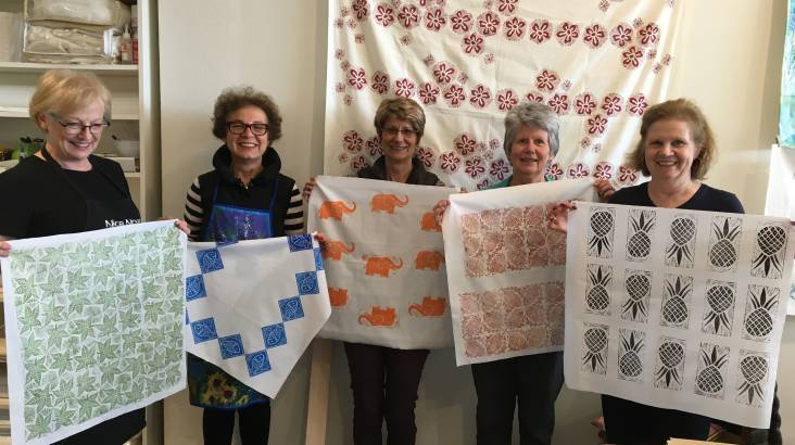 Design Your Own Fabric Lino Print Workshop - 3 Hours