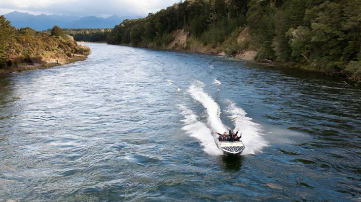 RedBalloon Trout Fishing from a Jet Boat in Fiordland - Up To 4 People