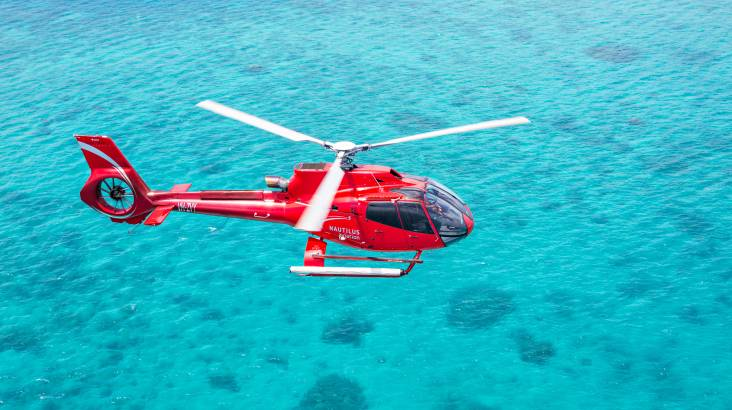 Great Barrier Reef Cruise, Snorkeling and Helicopter Flight