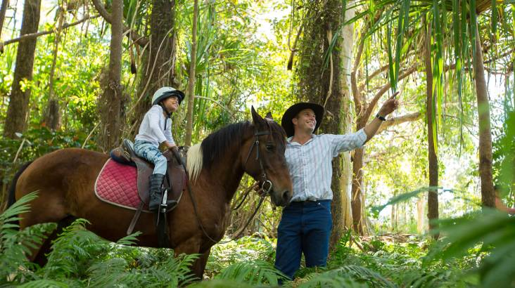 Horse Riding through the Rainforest - Family