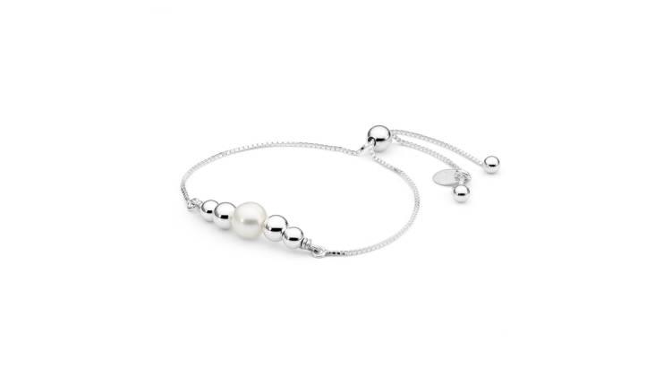 Sterling Silver Pearl Friendship Bracelet