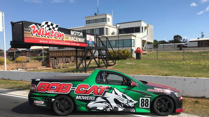 RedBalloon Thrill Ride in a V8 Ute Race Car - 4 Hot Laps