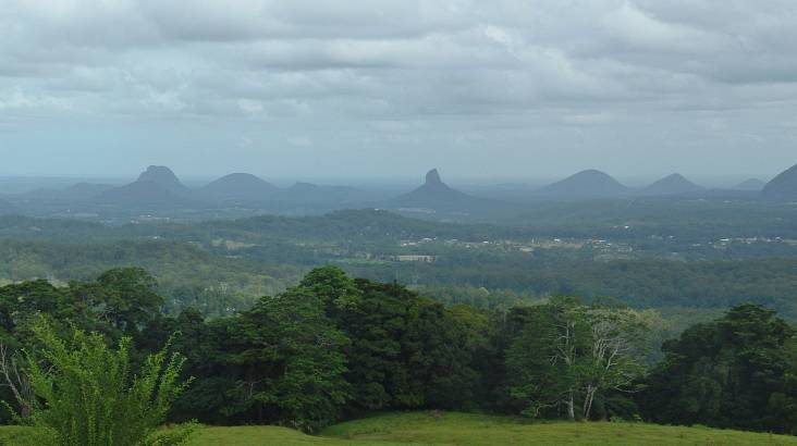 Heli Flight Over The Glass House Mountains - 30 Mins - For 3