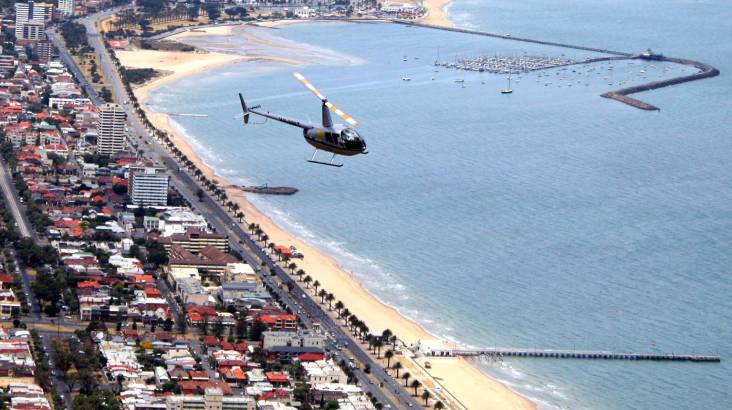 RedBalloon Melbourne City and Coastal Private Heli Flight - For 2
