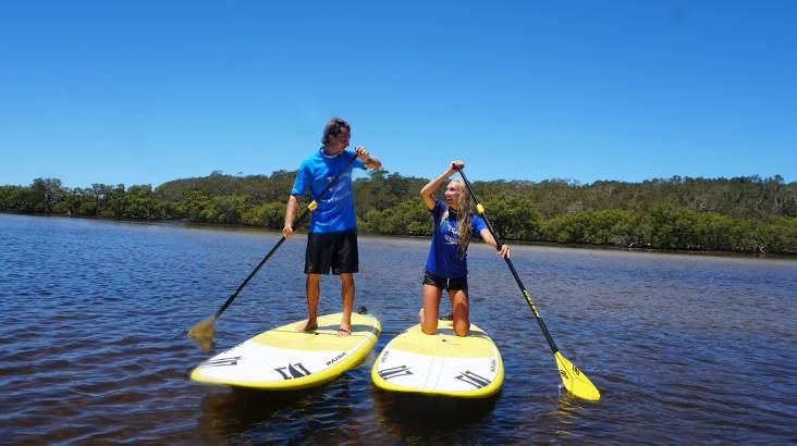 Stand Up Paddle Boarding Lesson with Transfers - Byron Bay