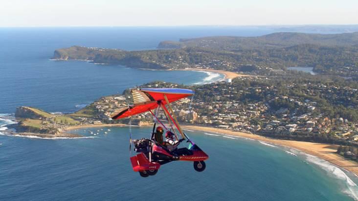 Microlight Aircraft Training Instructional Flight