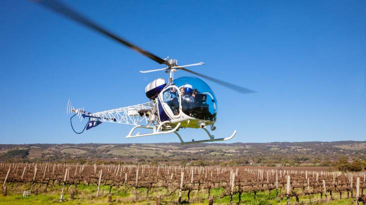 Private 30 Minute Heli Flight with 3 Course Lunch - For 2