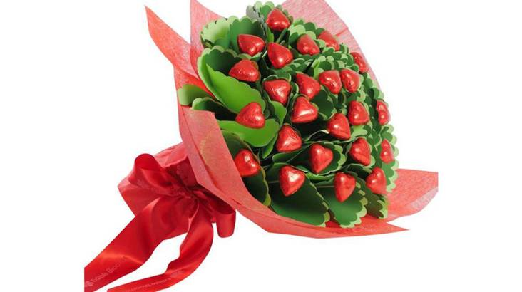 Twenty Chocolate Hearts Bouquet