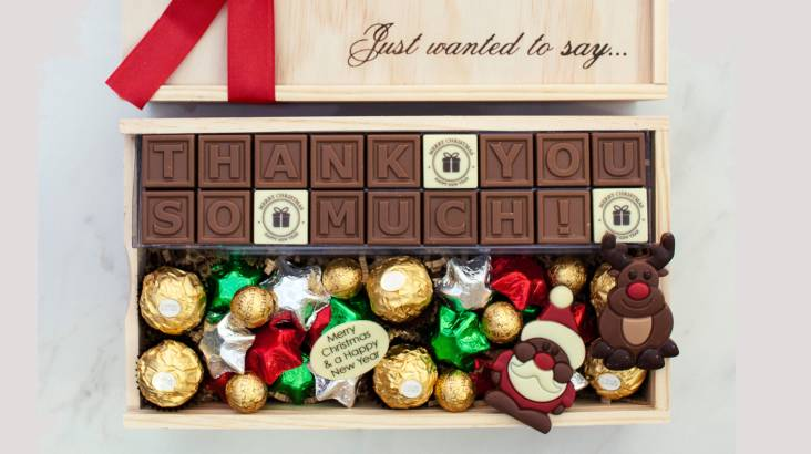 Personalised Christmas Chocolate Message - 18 Characters