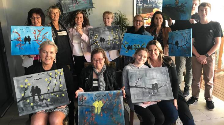 RedBalloon Paint, Sip and Create Class - VIC
