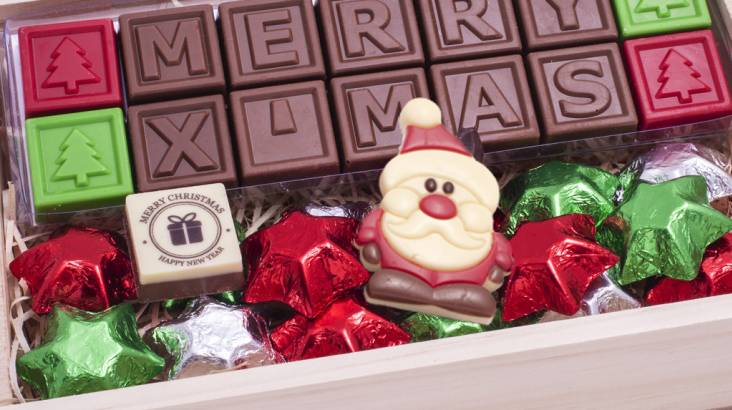 Personalised Christmas Chocolate Message - 14 Characters