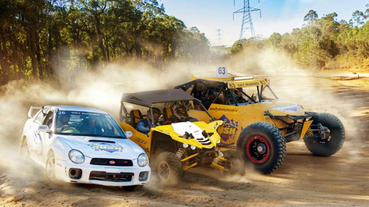 Drive 3 Off Road Race Cars - 20 Laps - Sydney