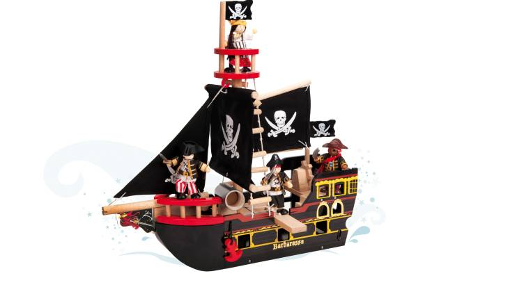 Wooden Barbarossa Pirate Ship