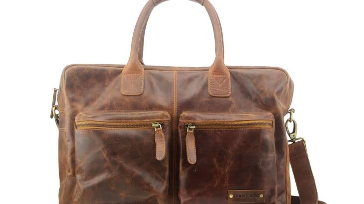 Manzoni Distressed Leather Overnight Bag