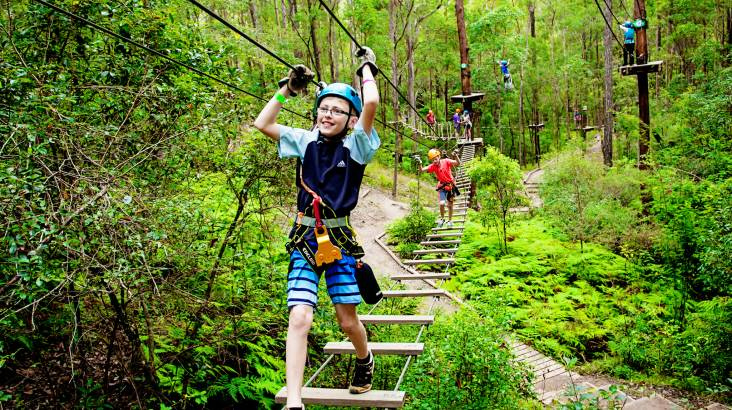 RedBalloon High Ropes and Flying Fox Adventure - Tamborine