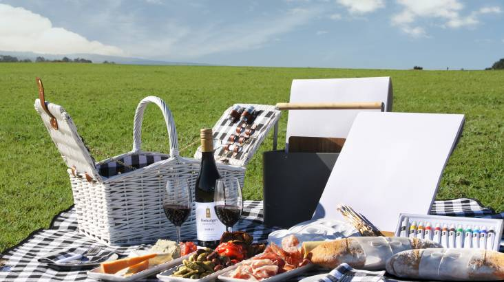 RedBalloon Winery Tour with Tasting, Picnic Hamper and Painting Kit