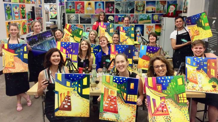 2 Hour Paint and Sip Class - Midweek - Sydney