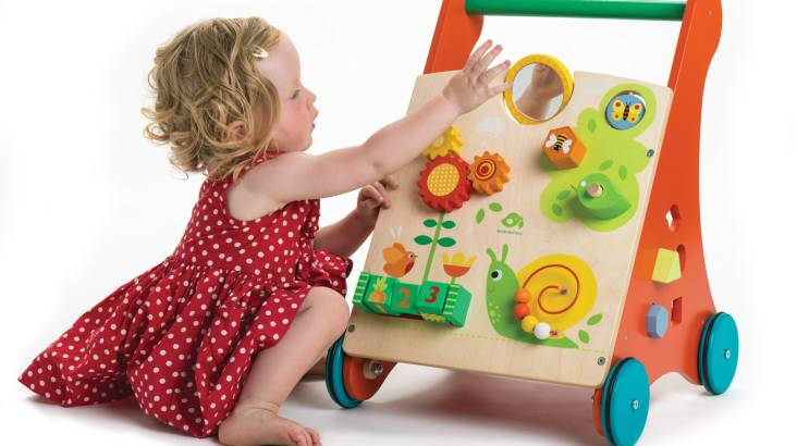 Wooden Baby Activity Walker
